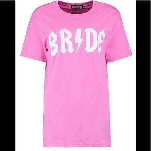 Boohoo bride t-shirt. Brand new!